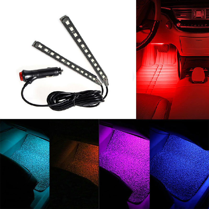 12 Led Car Auto Interior Led Atmosphere Lights Decoration Lamp Car Pathway Lighting In Car Light
