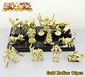Frete grátis 12 pcs Mini Saint Seiya Anime ouro áries touro gêmeos 1/9 scale encaixotado PVC figura coleção modelo ( 12 pcs set )