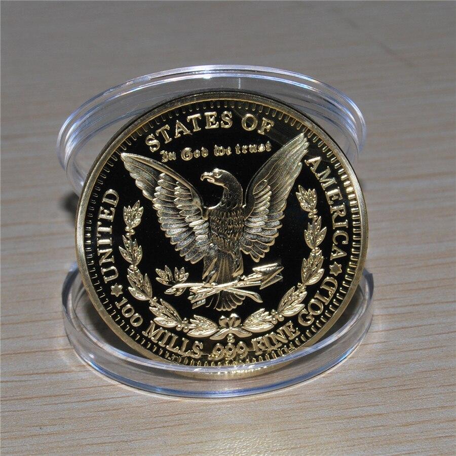 1896 Gold Plated Morgan Dollar Souvenir Coin (11)