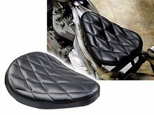 Black Diamond Solo Driver Stitch Seat for w/ Harley Bobber Chopper Custom