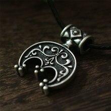 10 unids Lúnula nórdico Antiguo de Plata colgante colgante Collar de la joyería de la Luna creciente. LUNITSA. colgante Luna eslava, encanto femenino
