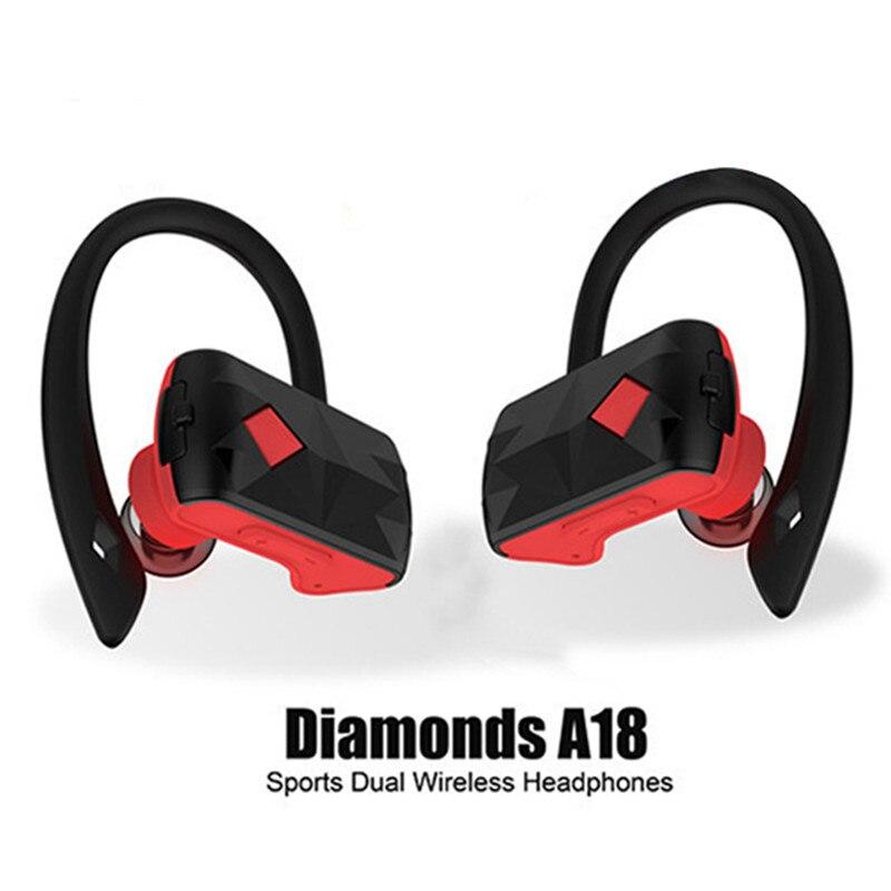 Newest TWS Bluetooth Headset Ear Hoook Twins True Wireless Stereo Bluetooth Earphone CSR 4.2 bluetooth Headphone Sports Earbuds