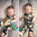 Baby rompers hot sale brand bebe boys infant clothing sleeveless Camouflage newborn baby clothes 0-3Y