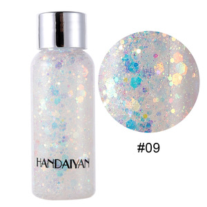 Image 4 - Eye Face Glitter Makeup Nail Hair Glitter Gel Flash Heart Loose Sequins Cream Body Glitter Decoration For Festival Party TSLM2