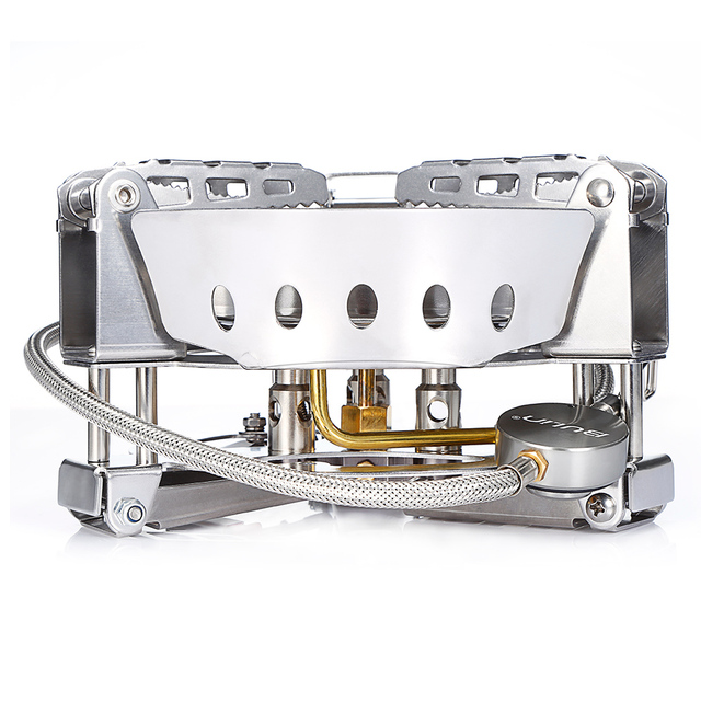 6800W SUPER-POWER Gas Stove Outdoor Camping Windproof  Portable Split Gas Burner for Cooking Camping Hiking Bulin BL100-B17 4