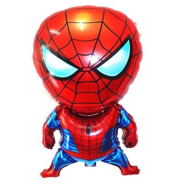 10 pçs/lote cena da Festa de aniversário Balão do Brinquedo das Crianças Do Bebê Do Homem Aranha Spiderman Folha De Alumínio Balões decorados e mobilados