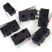 LETAOSK 5pcs Plastic Hinge Lever Micro Limit Switch AC 125V 5A KW4-3Z-3 For Mill CNC