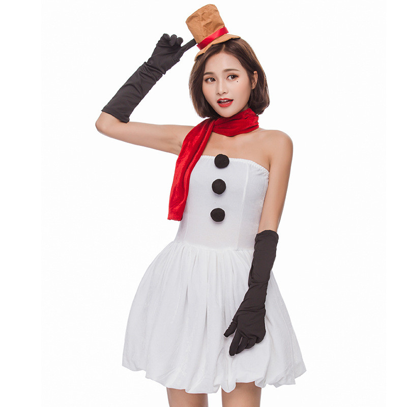 160cc763bd4 New Arrival Japan Christmas Sexy White Snowman Costume Cute Santa Claus XMAS  Outfit Mini Dress -in Sexy Costumes From Novelty U0026 Special Use On ..