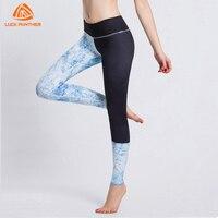 Meilleurs Pantalons De Yoga Imprimer Tricoté Polyester Pantalon Gym Élastique Taille Collants Femmes Fitness Workout Leggings Sport Jogging Coton Ouaté