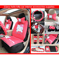 Cartoon Hello kitty Car Steering Wheel Covers headrest pillow safety seat belt handbrake grip gear shift rearview mirror covers