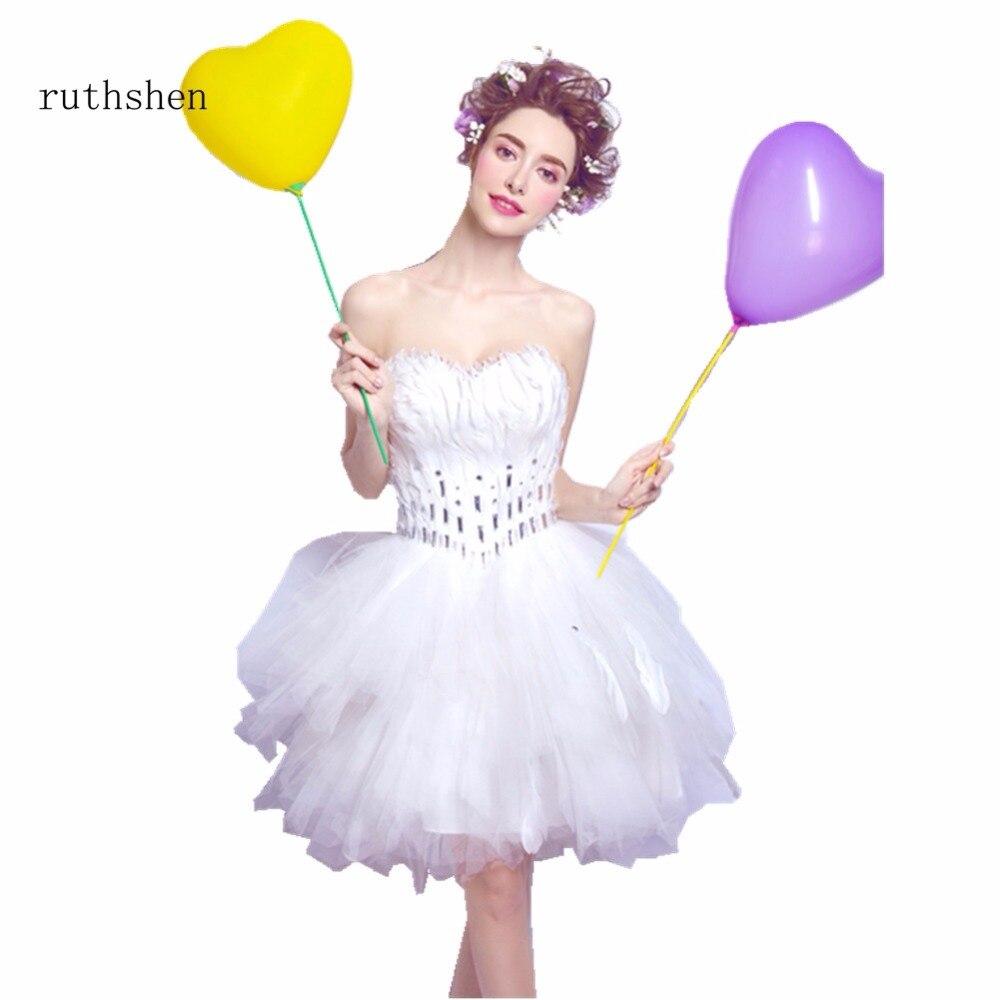 ruthshen Elegant Sweetheart Neck   Bridesmaids     Dresses   Feathers Party   Dresses   In Stock Vestidos De Madrinha Under 100 2018