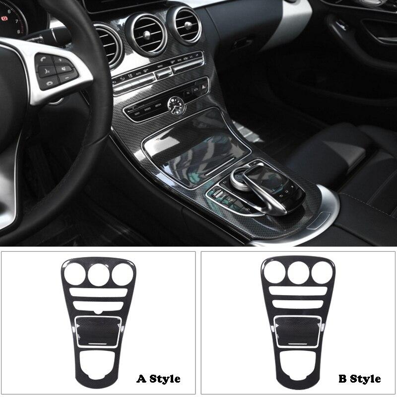 Newest Carbon Fiber Style ABS Plastic Center Cover Trim For Mercedes Benz C Class W205 C180L