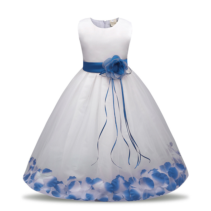 White Baby Girls Dress Flower Girl Dress Birthday Party Dress Size 00 to 1