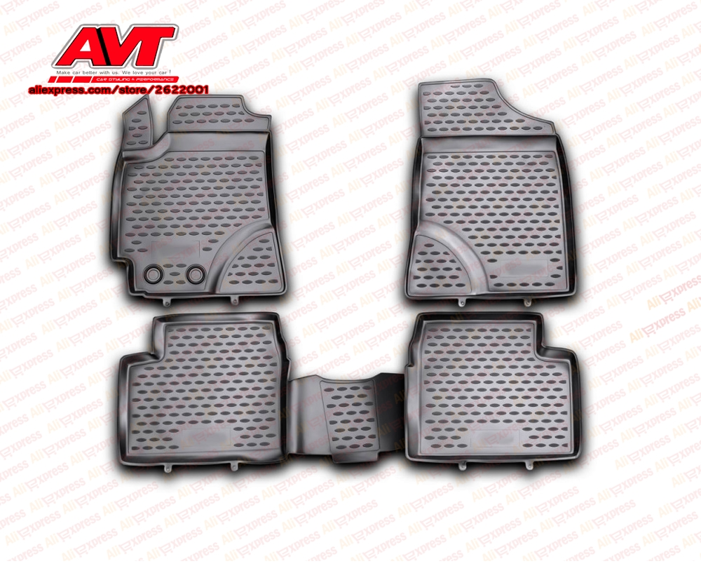Floor mats for Geely Emgrand EC7 RV 2011 4 pcs rubber rugs