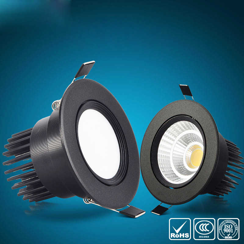 High Quality Dimmable  LED COB Recessed Downlight 6w 9w 12w 20w LED Spot lamp 110v 220v Dimming Ceiling Lamp light