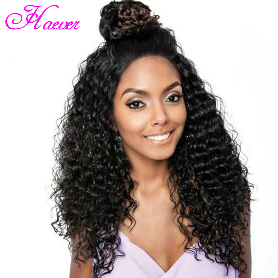 Deep Wave Lace Front Human Hair Wigs Malaysian Lace Wig Humain Hair Pre Plucked 4X4 Lace Wig With Baby Hair(China)