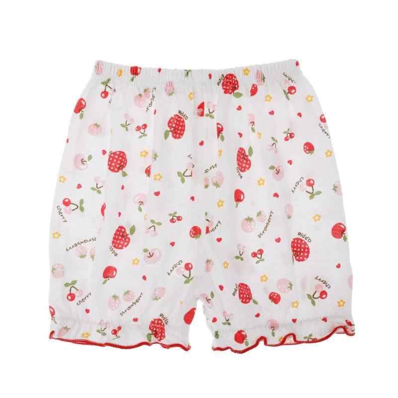 Crianças Baby Girl Roupas Floral Imprimir Praia Shorts de Algodão Elástico Na Cintura Solta Casuais Calções Plissado Bonito Da Criança Calções de Verão