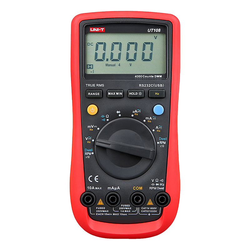 UNI-T UT108 Digital Automotive Multimeter Handheld Automotive Multi-Purpose Meters Ammeter Ohm Volt Digital Universal Meter  цены