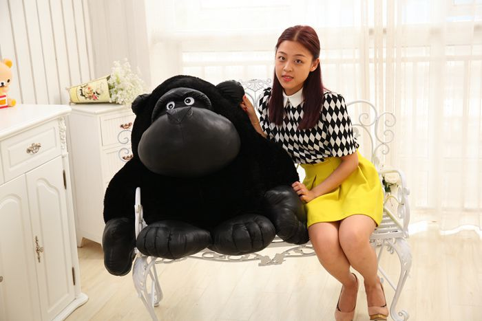 huge black plush orangutans toy big fat creative orangutans doll about 80cm стоимость