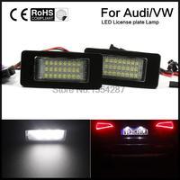 2 unids 24 kit LED SMD No Error Luz de la Matrícula Audi A4 B8 S4 S5 A5 Q5 S TT quattro