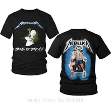 - Metal Up Your Ass T Shirt - Size Small - S - New Copy Thrash T-shirt Design Basic Top