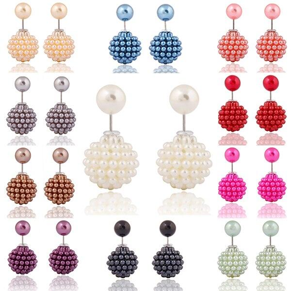 2017 comprar um obter um livre moda jóias candy color simulado pérola brincos de acrílico brincos para mulheres brinco acessório