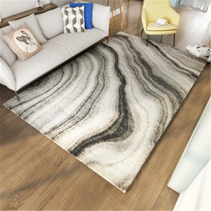 Noir blanc abstrait peinture tapis et tapis pour maison salon Style nordique géométrique grande taille tapis de sol tapis de cuisine