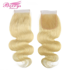 Image 5 - Berrys Fashion 613 Blonde Color Brazilian Body Wave 3 Bundles with Closure 100% Human Hair Weaving Remy Hair Weft Easy to Dye