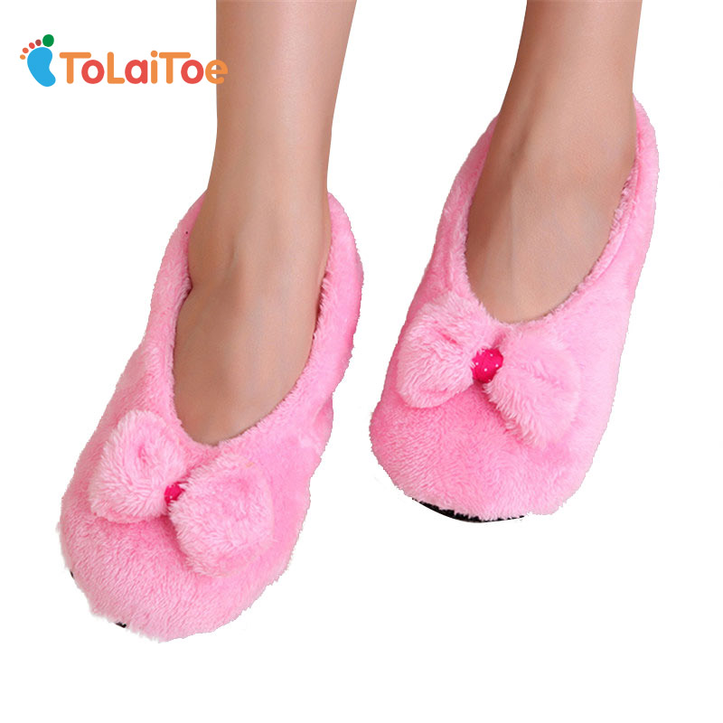 ToLaiToe 2017 Hot Selling Lovely Big BowKnot Keep Warm Soft Sole Women Indoor Floor Slippers/Shoes Bow Tie Flannel Home SlippersToLaiToe 2017 Hot Selling Lovely Big BowKnot Keep Warm Soft Sole Women Indoor Floor Slippers/Shoes Bow Tie Flannel Home Slippers
