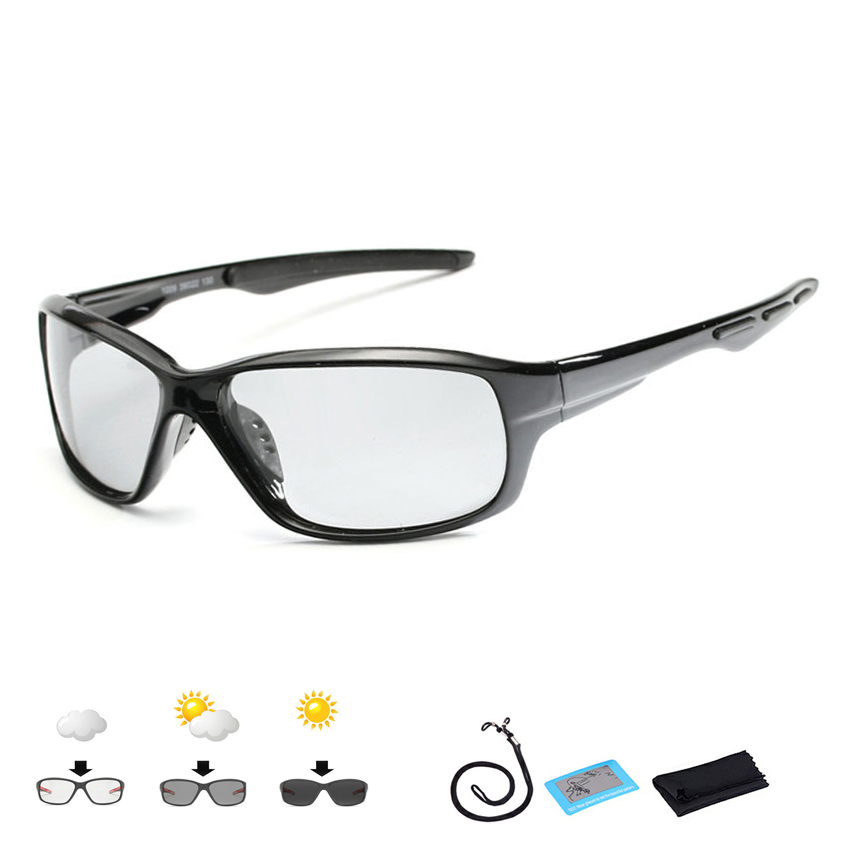New Photochromic Polarized Fishing Glasses Men Women Hiking Sunglasses  Polarized Outdoor Sports