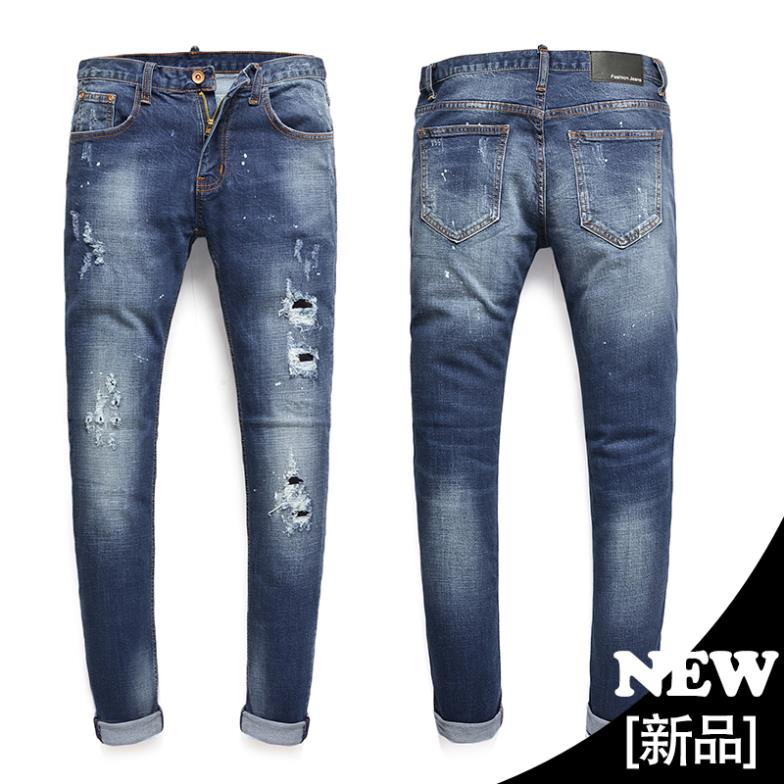 ФОТО 2015 New Sale Mid Softener Full Length Jeans 2015new Arrival Quality Mens Jeans Stretch Men's Slim Fit Size28-36 Oem 218