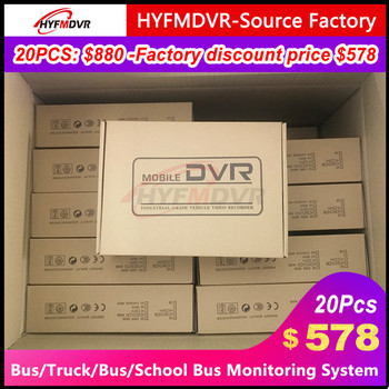 New listing AHD 960P megapixel audio and video 4-channel monitoring host Mobile DVR fire truck / private car / bus / big truck