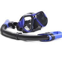 Adults Scuba Diving Mask Tube Set Snorkeling Mask Professional Diving Goggles Glasses Diving Swimming Dry Snorkel set