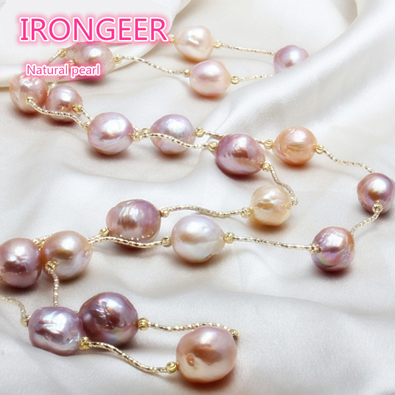 Genuine Luxury  Really natural Metallic luster Big pearl 11-13mm Baroque Irregular Pearl Necklace for women Free shippingGenuine Luxury  Really natural Metallic luster Big pearl 11-13mm Baroque Irregular Pearl Necklace for women Free shipping