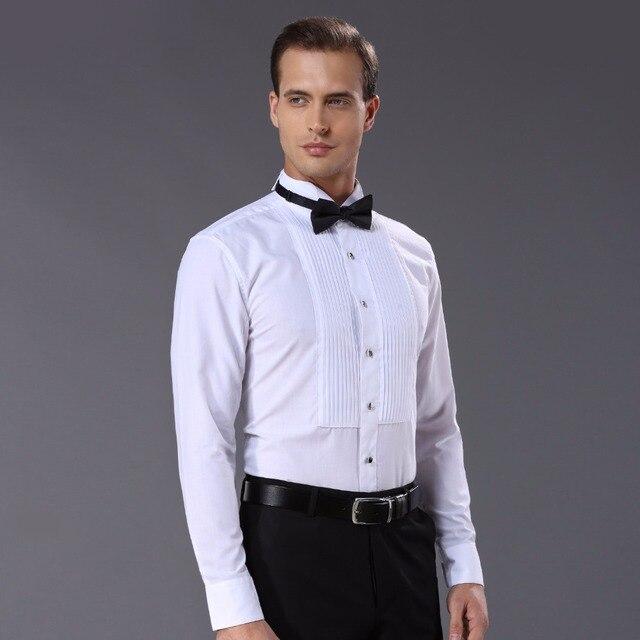 Mới Đến thời trang áo sơ mi cotton nam dài tay áo tinh khiết màu nam tuxedo áo sơ mi DARO883 camisas hombre