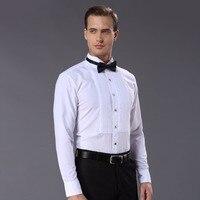 New Arrival Fashion Drape Adornment Cotton Men S Shirts Long Sleeve Pure Color Male Tuxedo Shirt