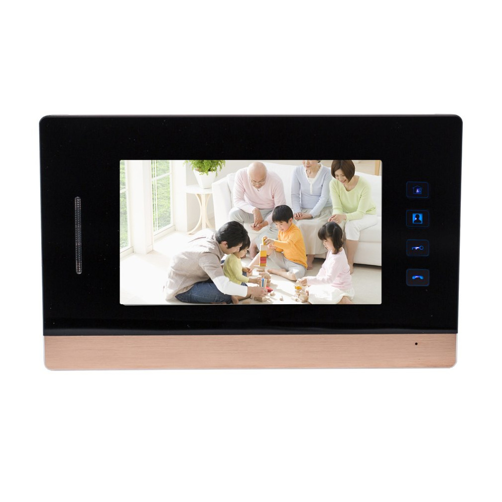 все цены на 7-Inch Screen Wired Visual Doorbell Infrared Night Vision Door Bell Video Intercom Door Phone Home Security 2018 онлайн
