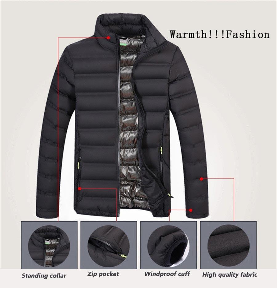 mens light windbreaker jacket slim fit winter jacket men parka coat streetwear men Bomber Jacket male sportswear autumn jacket 5