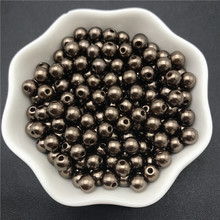 4mm 6mm 8mm 10mm Coffee Imitation Pearls Acrylic Beads Round Pearl Spacer Loose Beads For Jewelry Making(China)