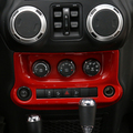 Red Black Silver ABS A/C Switch Control Panel Cover for Jeep Wrangler 2011-2016 Air Conditioner Inner Decoration Covers