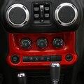 Rojo de Plata Negro ABS A/C Interruptor de Control de Panel de Cubierta para Jeep Wrangler 2011-2016 Aire Acondicionado Interior decoración Cubre