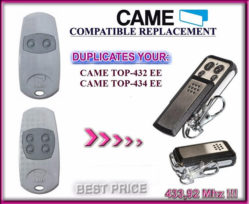 CAME TOP432EE, CAME TOP434EE clone Universal remote control replacement clone duplicator Fixed code 433.92MHZ free shipping