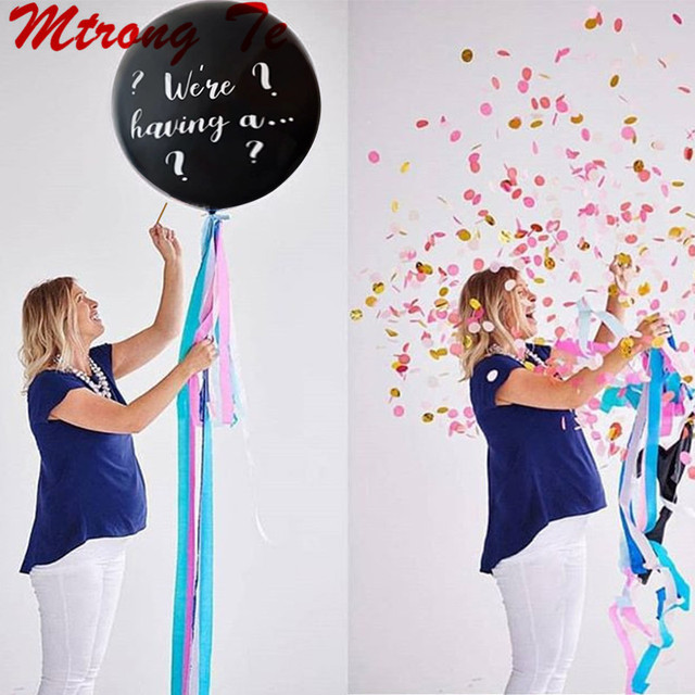 1pc 36inch Large Size Giant Gender Reveal Confetti We Are Having a... Helium Latex Balloon Birthday Party Decoration Air Globos