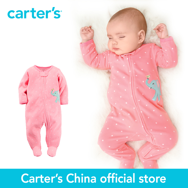 5f71bf446974 Carter s 1 piece baby children kids cute Fleece Zip Up Sleep   Play ...