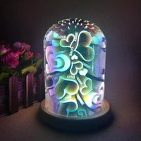 BOLEDENGYE 3D Atmosphere LED Light USB 5V 3W Novelty Creative Night Lamp Firework Star Rose Love Projector For Home Decor Gift