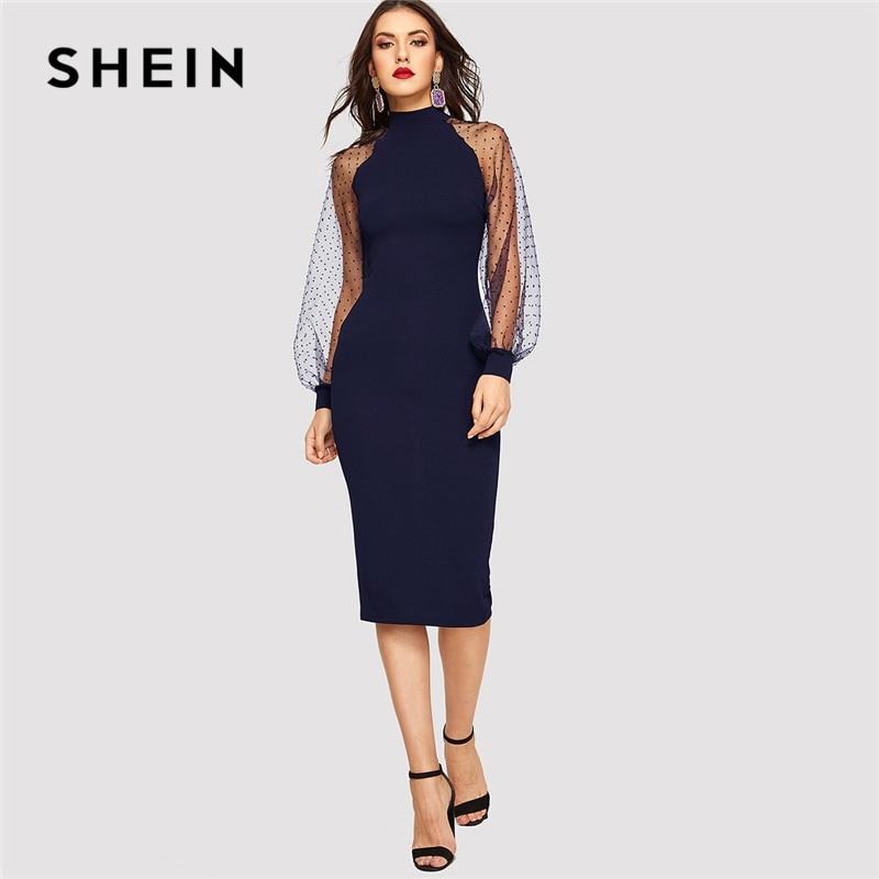 Women Black Applique Lace Long Sleeve Bodycon Party Mini Dress Plus Size 14-18