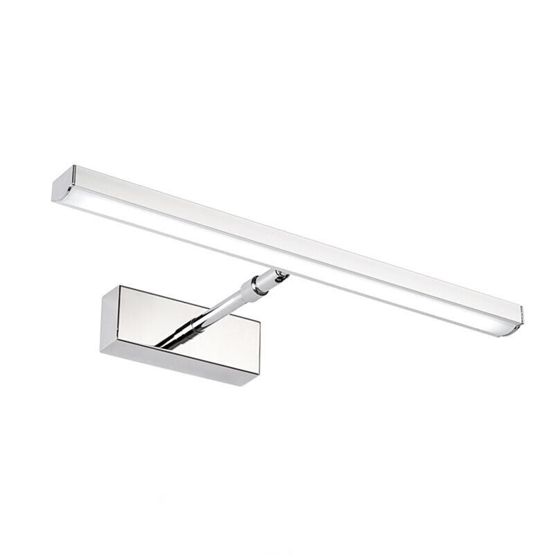 19Inch AC85 260V 12W Retractable Bathroom Mirror Led Wall Light Fixtures Waterproof Rotated Bath Make