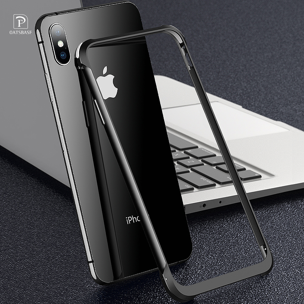 OATSBASF Luxury Push And Pull Shape Metal Case For IPhone X XS MAX Case Personality Back Cover Shockproof Shell Bumper