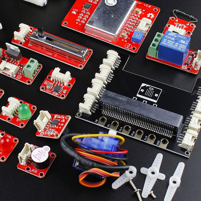 Elecrow Crowtail Learning Starter Kit for Micro:bit 2.0 Graphical Programming DIY Beginners with 17pcs Basic Crowtail Modules-in Integrated Circuits from Electronic Components & Supplies    2
