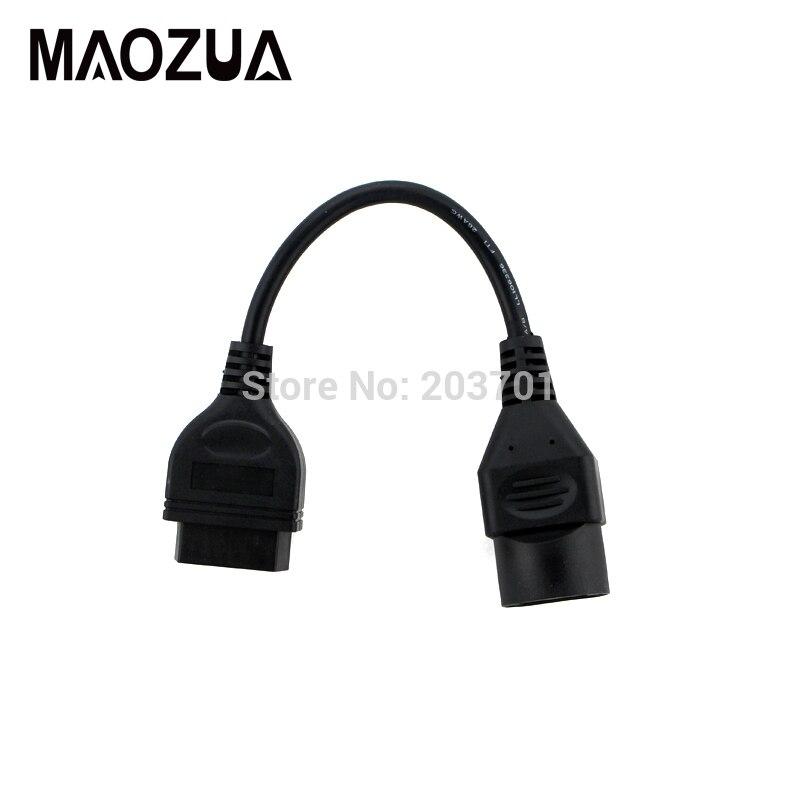 Pour MAZDA 17 Pin 17Pin Mâle à OBD OBD2 OBDII DLC 16 Broches Femelle 16Pin Diagnostique de Voiture Adaptateur Convertisseur câble